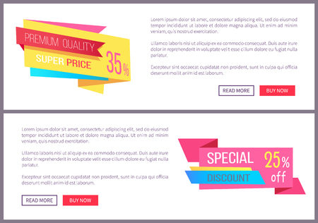 Set Sale Special Offer Order Now Web Poster Vector Stock Photo