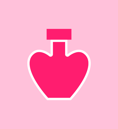 Perfumes Heart Shaped Poster Vector Illustration Ilustrace