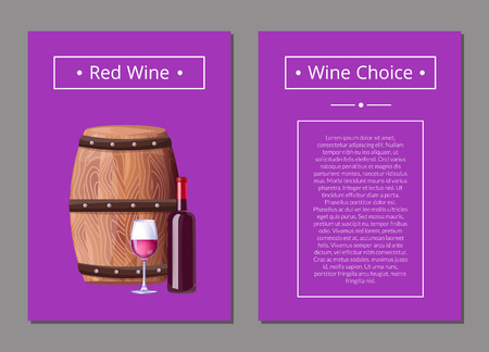 Red Wine Choice Poster Bottle of Alcohol Drink Reklamní fotografie - 101695429