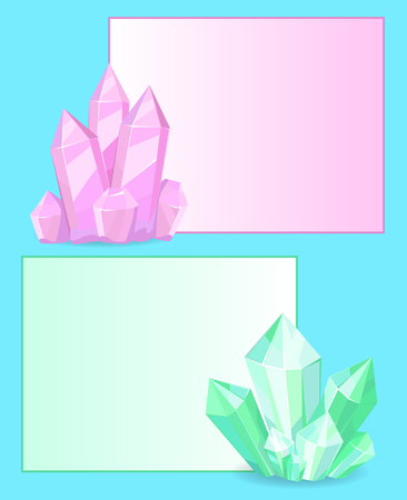 Pink and Green Crystals Gemstones Organic Minerals