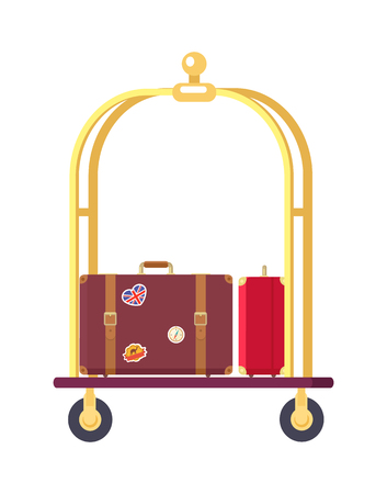 Two Bags on Cute Bogie Vector Illustration