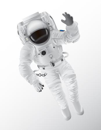 Professional Spaceman in Modern Pressure Suit