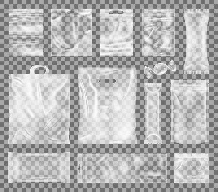 Ilustración de Vector de colección de paquetes de plástico