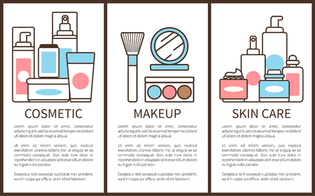Cosmetic and Makeup Skin Care Vector Illustration Foto de archivo - 101734080