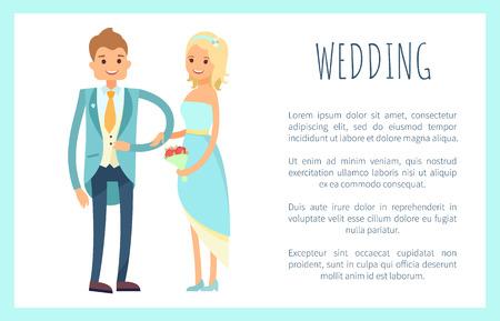 Wedding Placard,Text Sample Vector Illustration