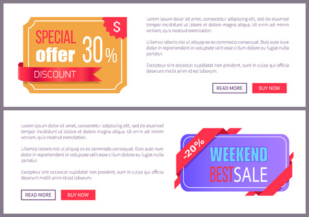 Set Sale Special Offer Order Now Web Poster Vector Stock Vector - 101734122