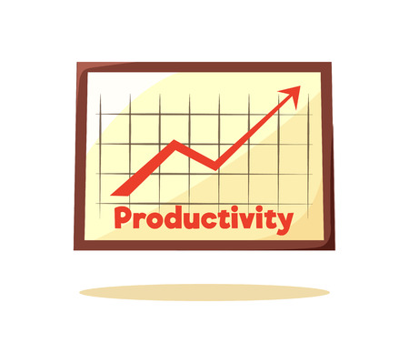 Productivity Graphic Card Vector Illustration