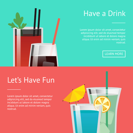 Have a Drink and Let s Have Fun Colorful Poster