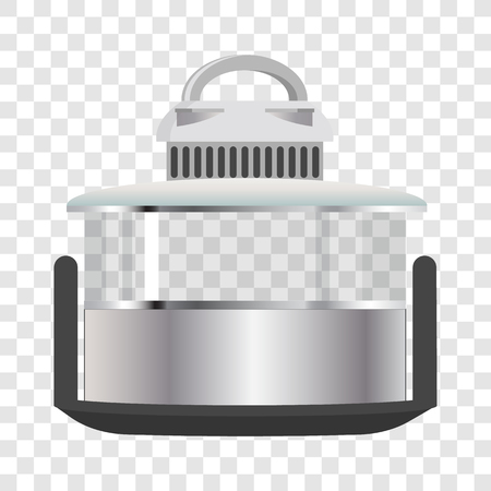 Silver Multicooker Banner Vector Illustration