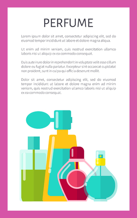 Perfume Poster Text Sample Vector Illustration