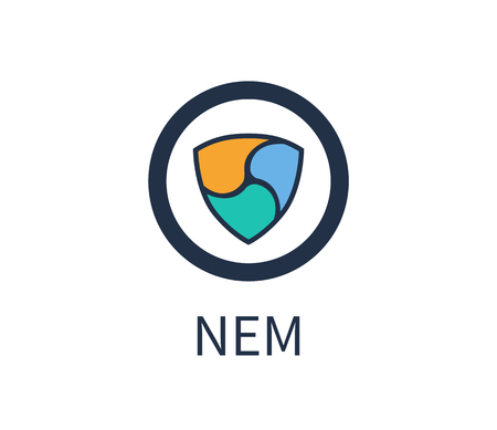 Nem Cryptocurrency Icon, Title Vector Illustration Illustration