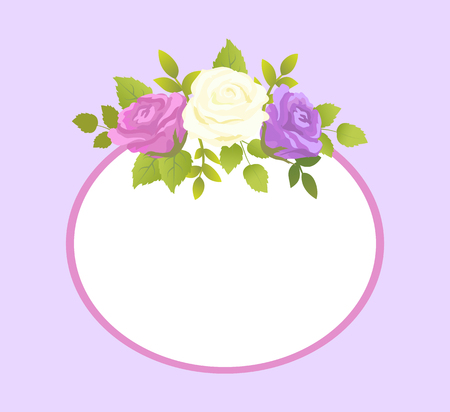 Decorative Frame for Photo or Text Spring Flower