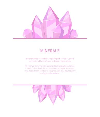 Mineralien natürliche Ressourcen Poster Edelsteine Vektorgrafik