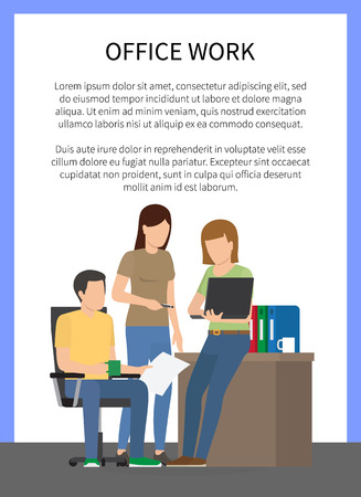 Office Work People Doing Job Vector Illustration Banque d'images - 101734298