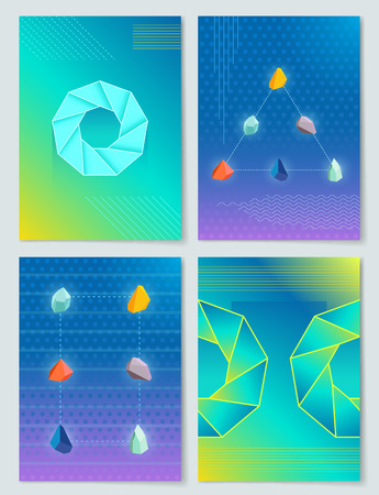 Stones and Shapes Collection Vector Illustration Stock Illustratie