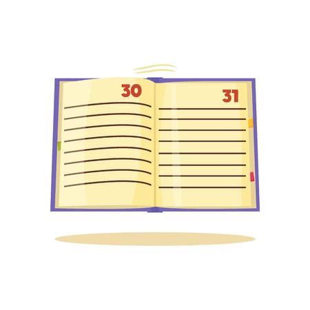 Time Management Notebook, Vector Illustration