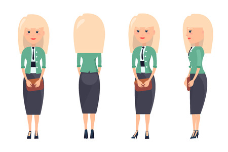 Business Suit Pattern Colorful Vector Illustration 向量圖像