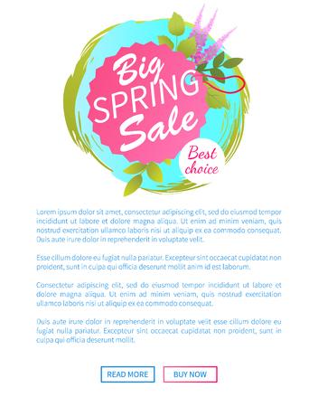Big Spring Sale Web Poster Best Choice Advert