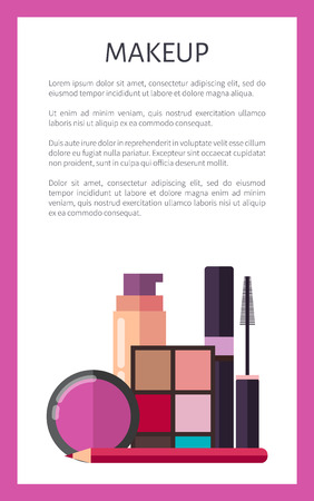 Makeup Elements on Promotional Vertical Poster
