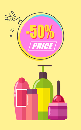 Half of Price for Toiletry Promotional Poster