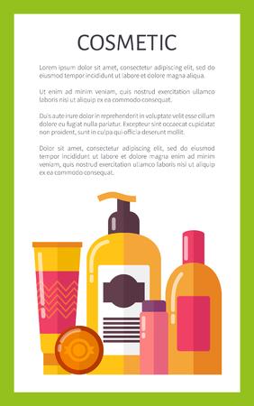 Cosmetic for Skincare Citrus Set Promo Banner Ilustração