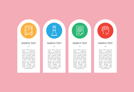 Icons Sample isolated on Cute Colorful Circles