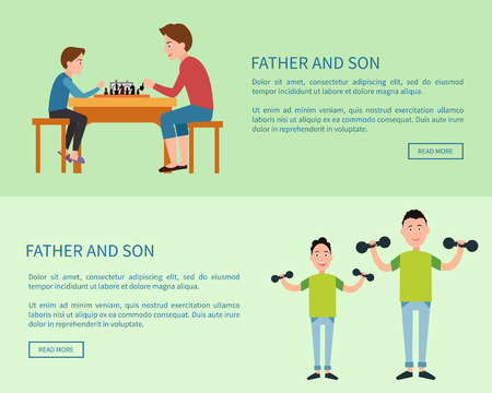 Father and Son Web Posters with Push Button Read