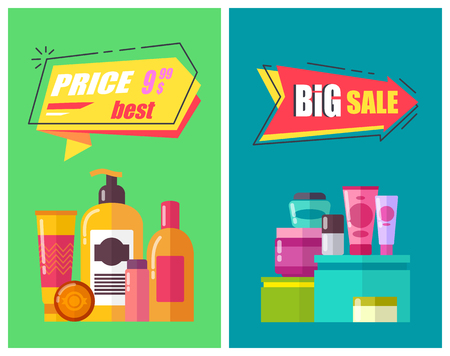 Best Price Promotion Posters Vector Illustration