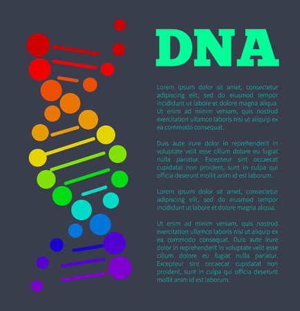 DNA Deoxyribonucleic Acid Chain Nucleotides Poster
