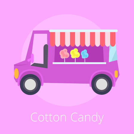 Cotton Candy Shopping Store Vector Illustration Illustration