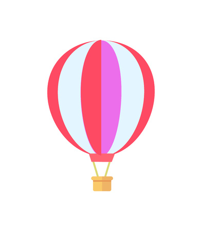 Hot Air Balloon White Poster Vector Illustration