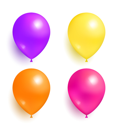 Helium Inflatable Colorful Balloons for Decoration Иллюстрация