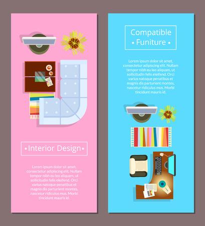 Interior Design with Compatible Furniture Poster Illustration