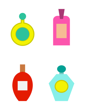 Perfumes Collection Poster Vector Illustration Illustration