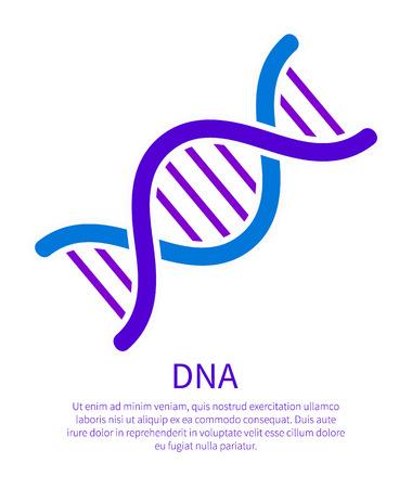 DNA Icon of Genetic Code, Deoxyribonucleic Acid Foto de archivo - 101964620