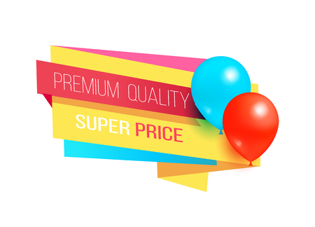 Premium Quality Super Price Promo Label Balloons