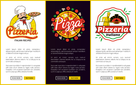 Pizzeria Collection of Web Vector Illustration Illustration