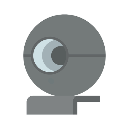 Cute Web Camera Template Color Vector Illustration Иллюстрация