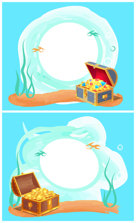 Photo Frame with Mysterious Sea Treasures in Chest