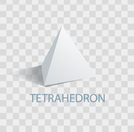 Tetrahedron Geometric Figure with Sharp Angles  イラスト・ベクター素材