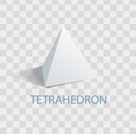 Tetrahedron Geometric Figure with Sharp Angles 向量圖像