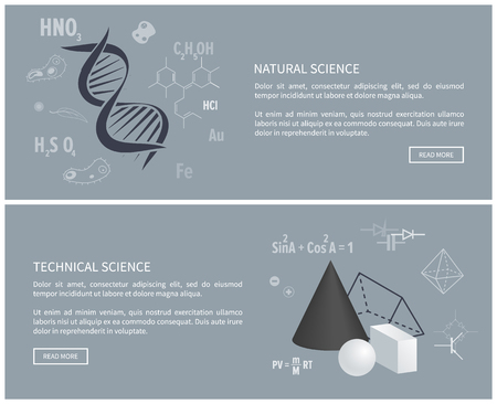 Natural and Technical Science Vector Illustration 版權商用圖片 - 101964602