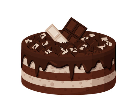 Delicious Sweet Cake of White and Dark Chocolate