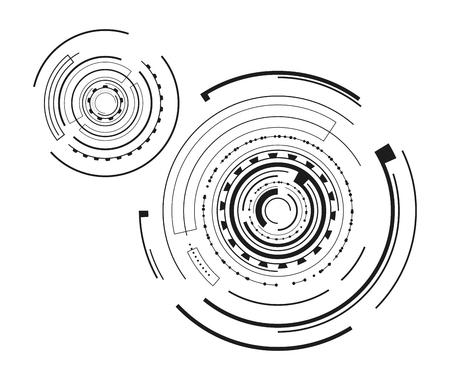 Pair of Interface Patterns Vector Illustration Ilustrace