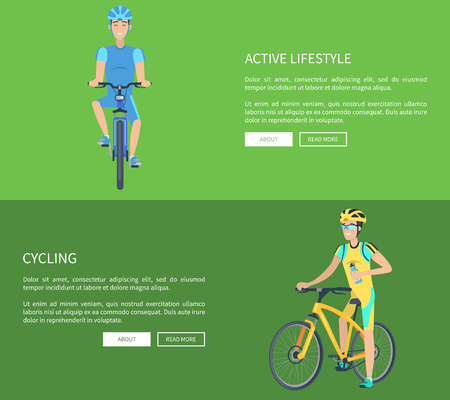 Cycling and Active Lifestyle Vector Illustration