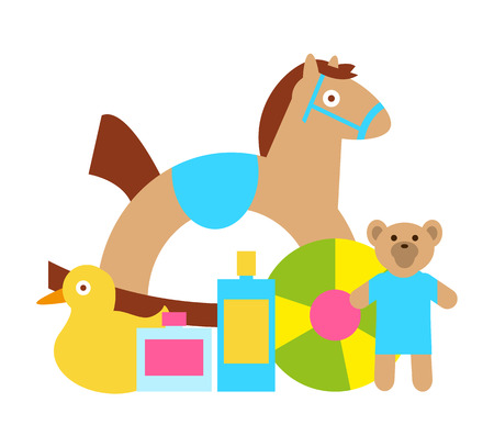 Toys for Kids Play as Rocking Horse, Teddy Bear