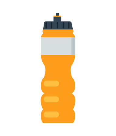 Cute Orange Bottle Template Vector Illustration