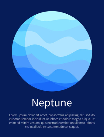 Blue Neptune Planet Vertical Informative Poster