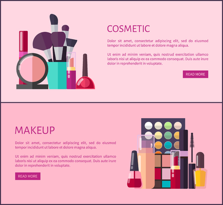 Cosmetic and Makeup Promotional Internet Pages