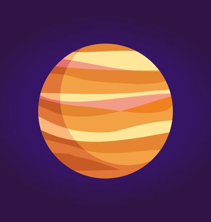 Jupiter Giant Planet of Gases from Solar System Illustration
